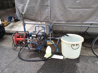 水洗い作業の道具
