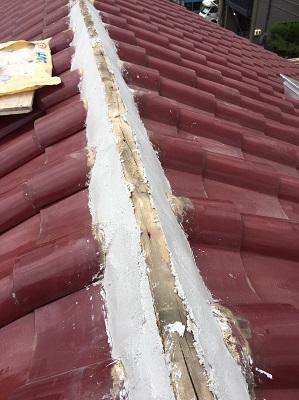 シルガード塗装後の棟