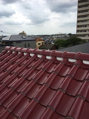 施工後の洋式瓦屋根
