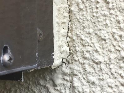 外壁 サッシ周り クラック
