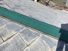 貫板交換工事の貫板防水シートを貼った様子