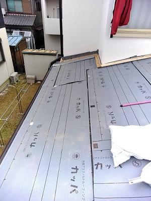 屋根葺き替え ルーフィング貼り