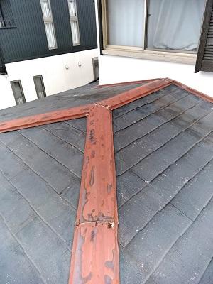 屋根葺き替え前の屋根