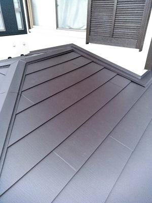 屋根葺き替え後 スーパーガルテクト