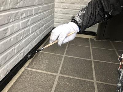 外壁塗装工事の様子