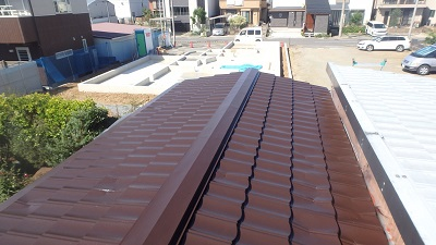 トタン屋根塗装後の写真