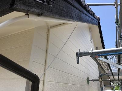 外壁の塗装工事は完了の様子