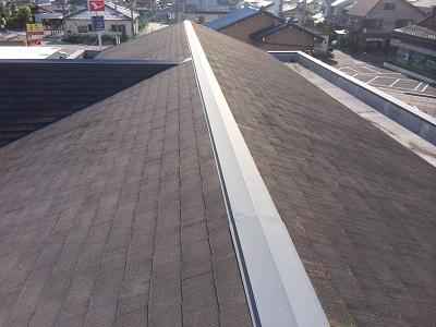 現地調査のカラーベスト屋根(棟)