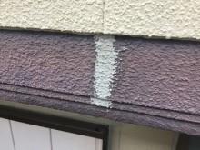 外壁のシーリングの様子