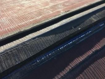ブルーの線で墨打ち