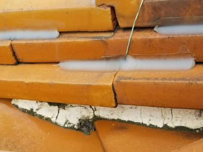 海部郡大治町にて屋根漆喰工事の施工させて頂きました。