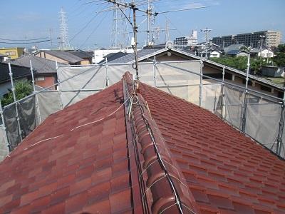 葺き替え前の屋根全体