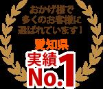 一宮市、春日井市、稲沢市やその周辺エリア、おかげさまで多くのお客様に選ばれています!