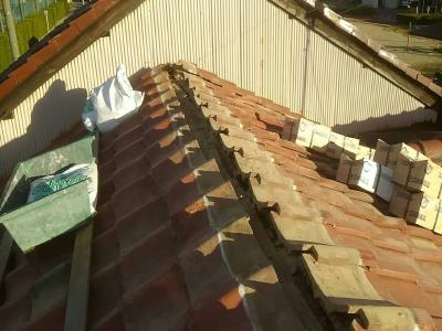 屋根棟の現状写真