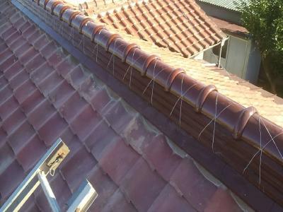 屋根棟施工写真
