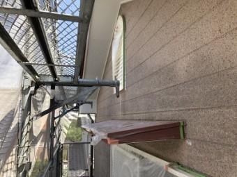 外壁塗装前のお宅の養生の様子