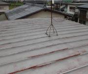 金属屋根チェック2.屋根が色褪せている